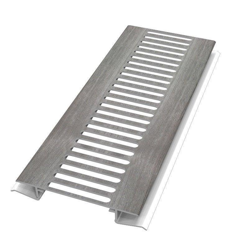 grille d 39 a ration pvc tech vieilli 3 m leroy merlin. Black Bedroom Furniture Sets. Home Design Ideas