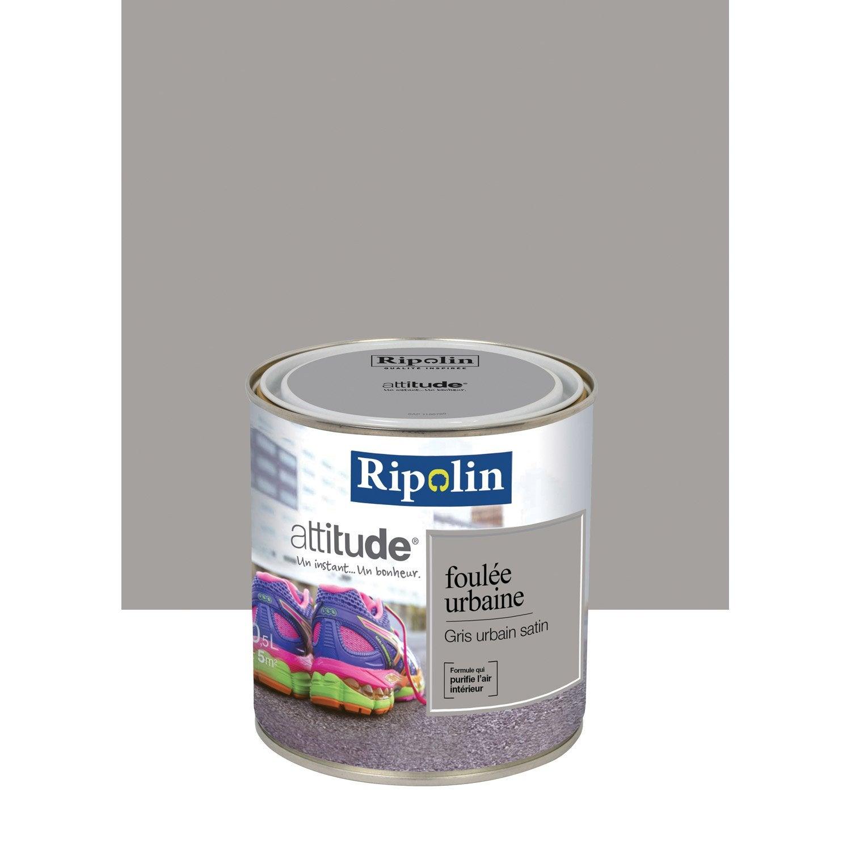 Peinture gris urbain ripolin attitude foul e urbaine 0 5 l for Peintures ripolin
