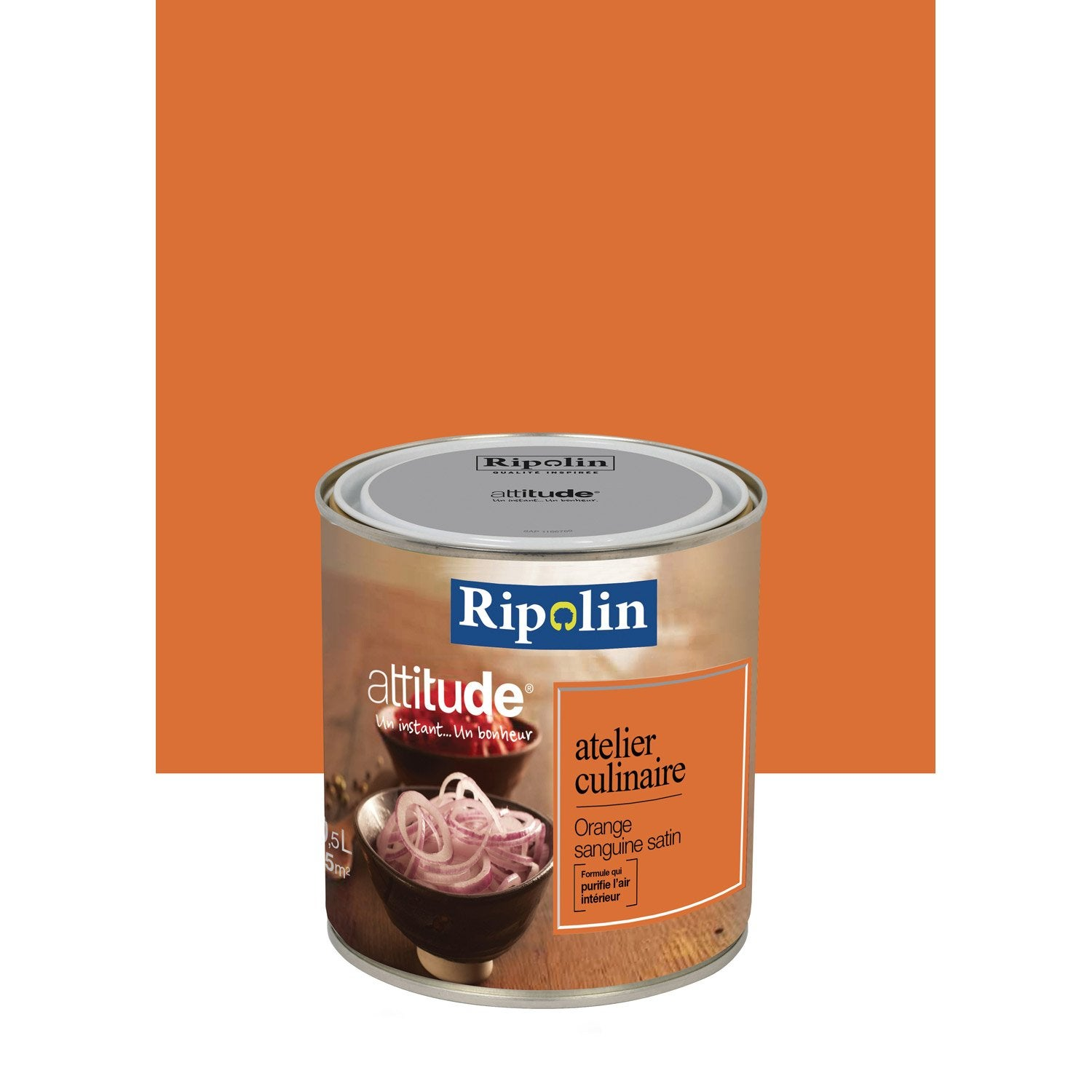 Peinture orange sanguine ripolin attitude atelier for Peintures ripolin