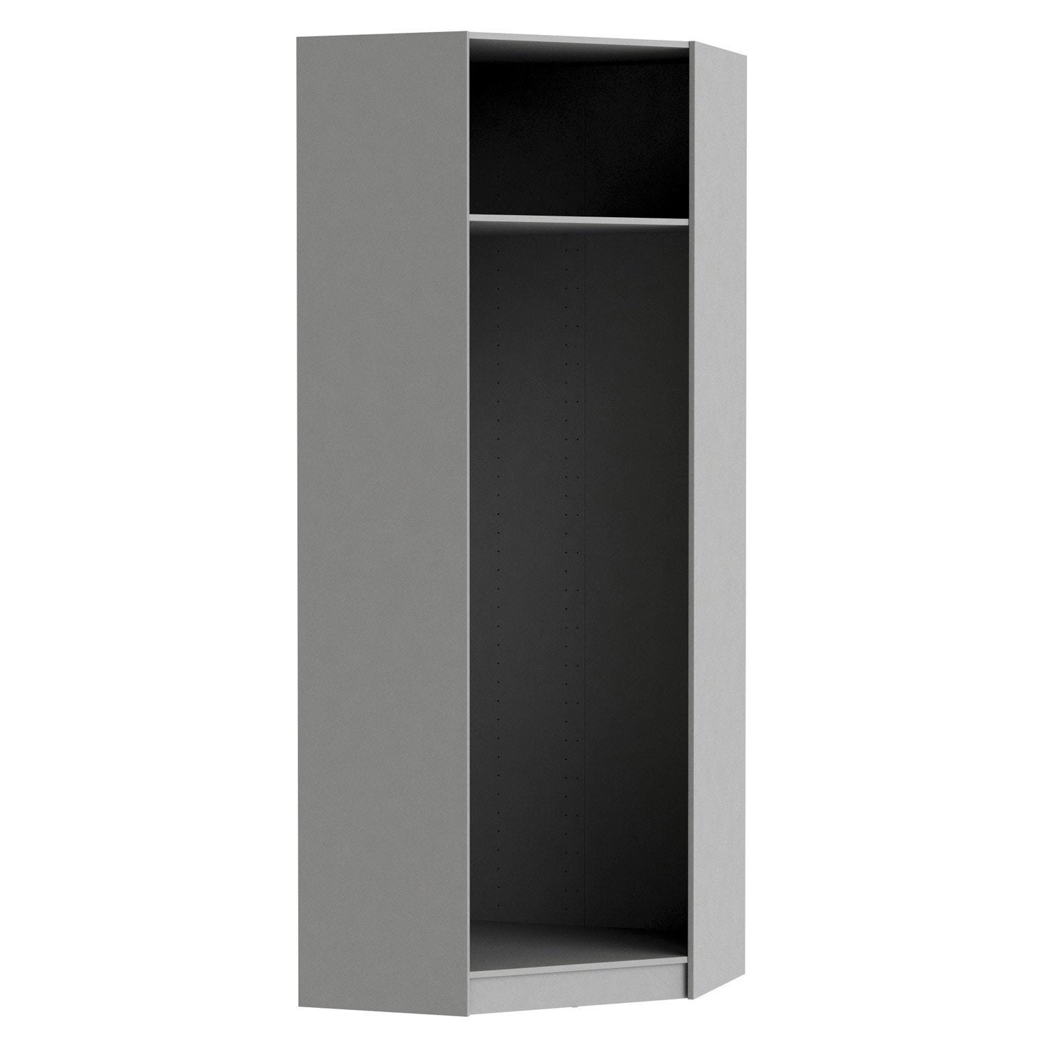 Caisson D 39 Angle Spaceo Home 240 X 89 X 89 Cm Anthracite Leroy Merlin