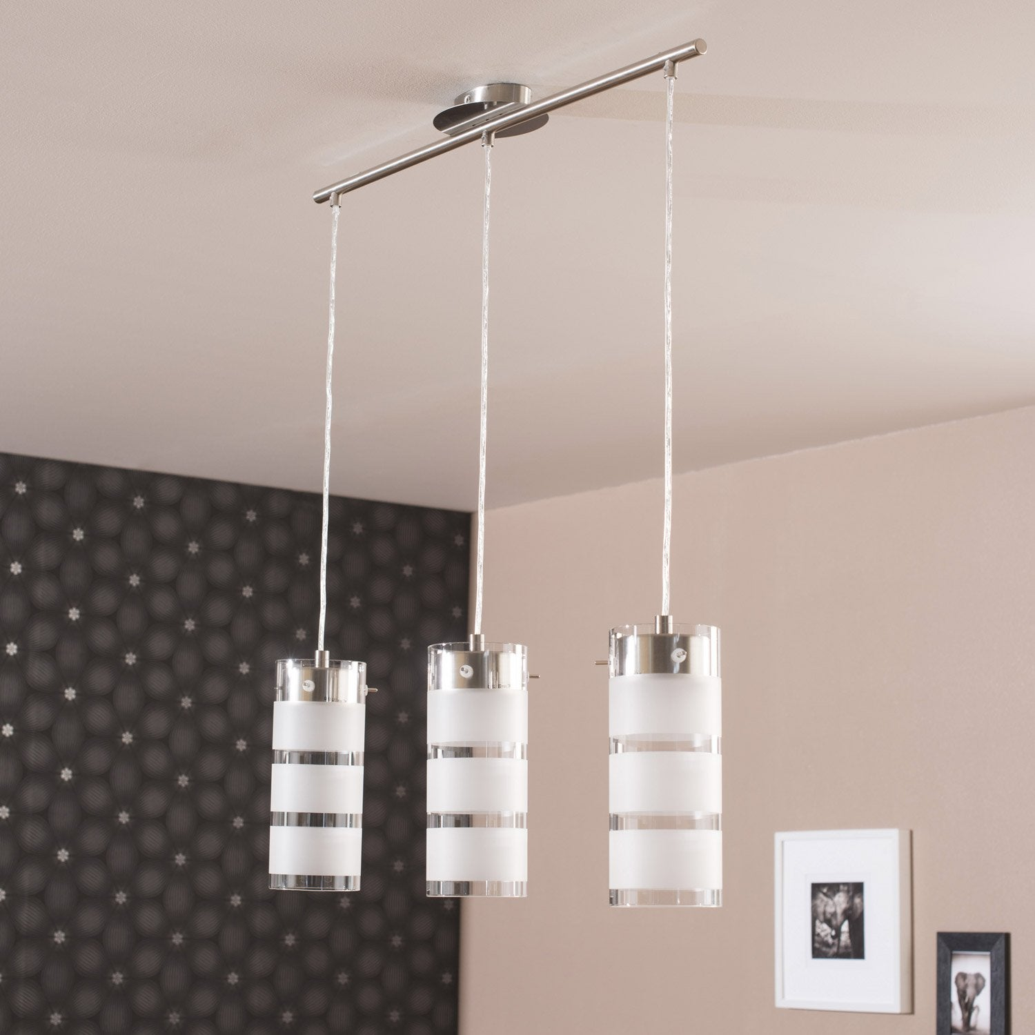 Suspension metal blanc maison design - Leroy merlin braga ...