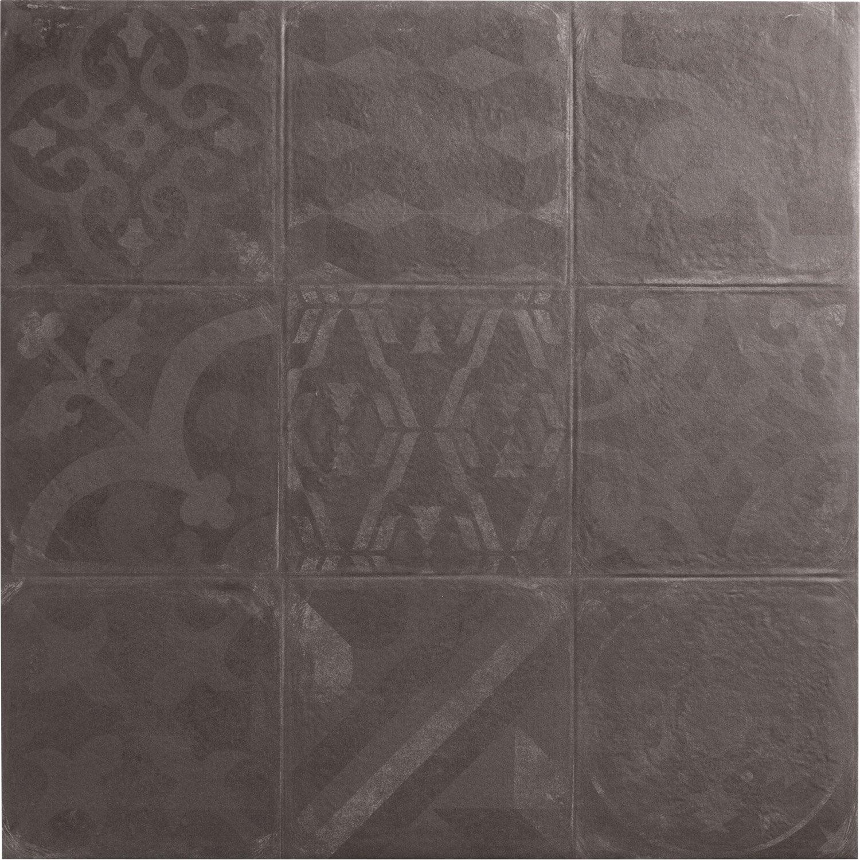 Carrelage sol et mur graphite effet b ton cosy x l - Carrelage beton cire leroy merlin ...