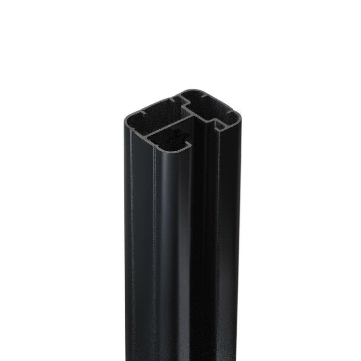 poteau aluminium fixer premium gris anthracite x. Black Bedroom Furniture Sets. Home Design Ideas