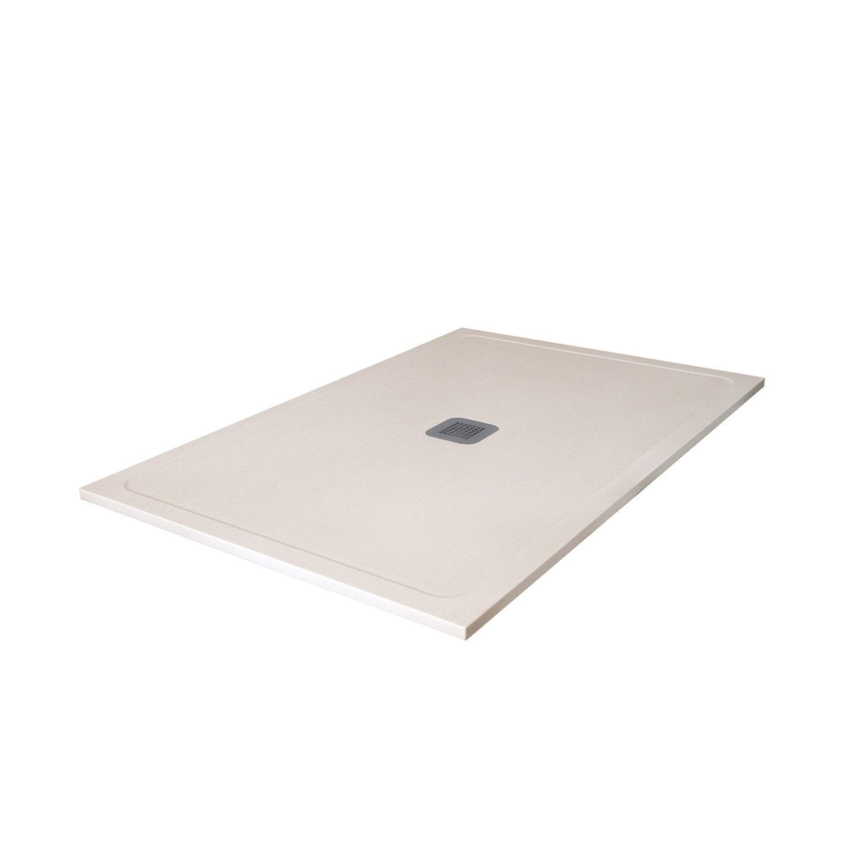 receveur de douche rectangulaire x cm pierre beige osaka2 leroy merlin. Black Bedroom Furniture Sets. Home Design Ideas