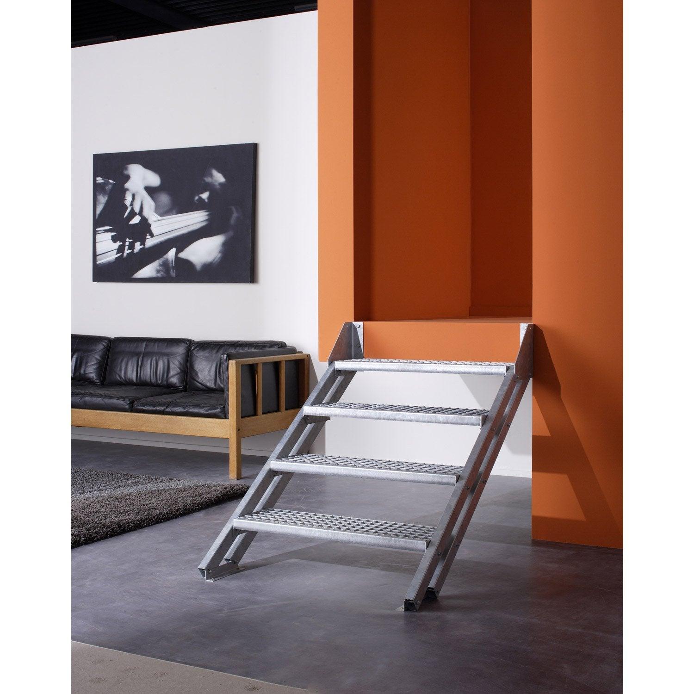 Escalier modulaire escavario structure acier galvanis for Pose escalier leroy merlin