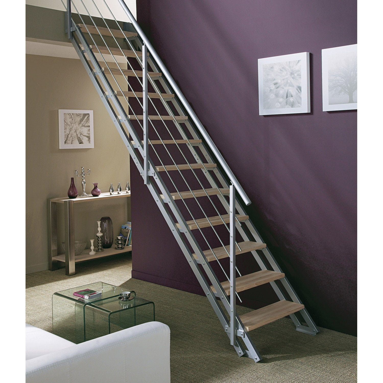 escalier modulaire escavario structure acier galvanis marche acier galvanis leroy merlin. Black Bedroom Furniture Sets. Home Design Ideas