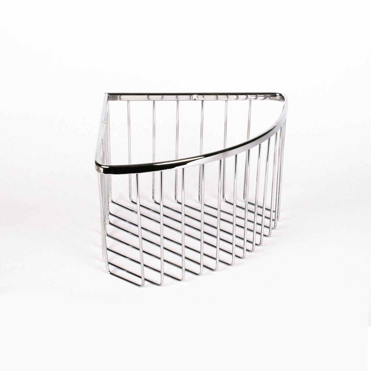 Etag re de bain douche d 39 angle visser chrom hotel - Etagere d angle pour salle de bain ...