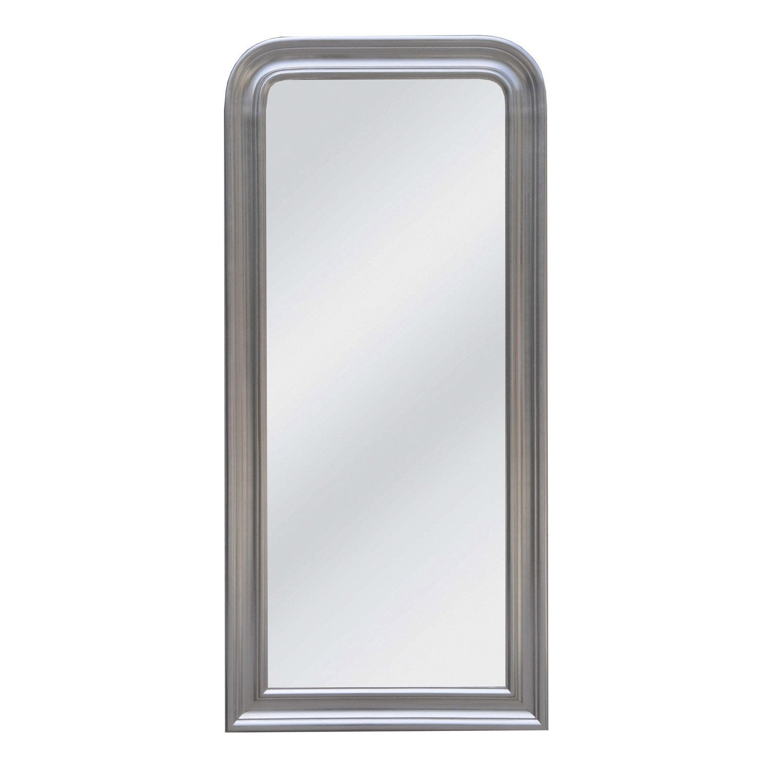 Miroir daventry rectangle argent 70x150 cm leroy merlin for Miroir 150 cm