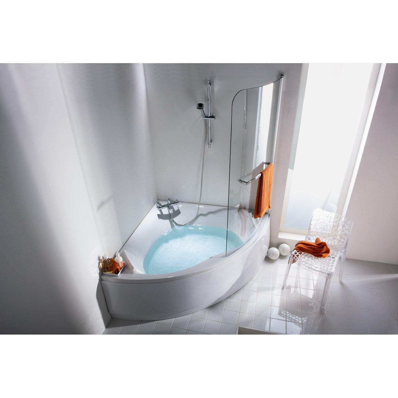 Tablier de baignoire cm blanc sensea purity for Par douche pour baignoire