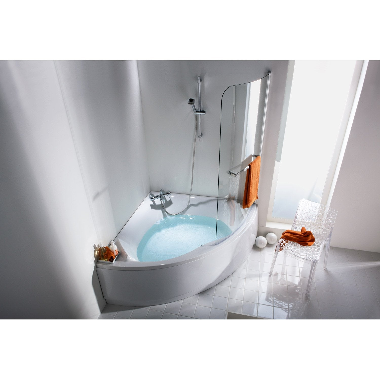 Tablier de baignoire cm blanc sensea purity leroy merlin - Colonnette baignoire leroy merlin ...