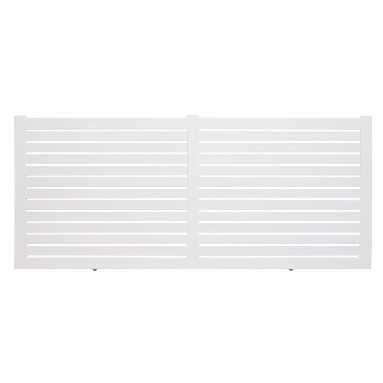 Portail coulissant pvc iliz blanc naterial x for Petit portail en pvc