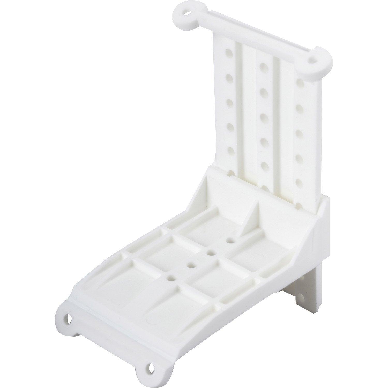 2 adaptateurs ferrures en plastique pour fixation de portes coulissantes hettich leroy merlin. Black Bedroom Furniture Sets. Home Design Ideas