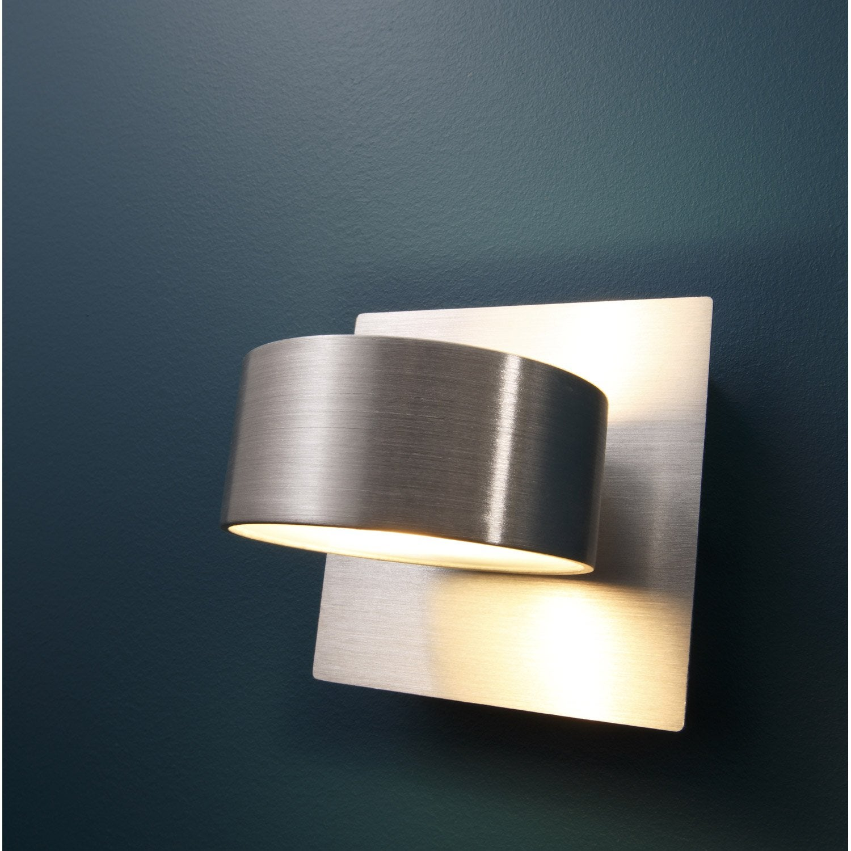 Applique miki 1 x 40 w aluminium aluminium inspire - Applique murale interieur leroy merlin ...