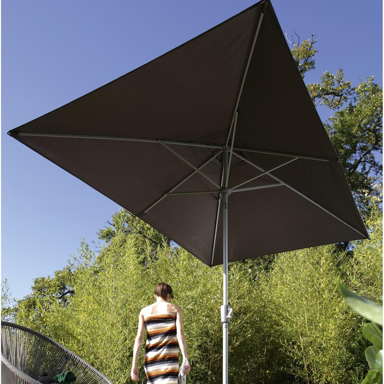 Parasol droit helios gris dor rectangulaire x cm leroy merlin - Leroy merlin parasol deporte ...