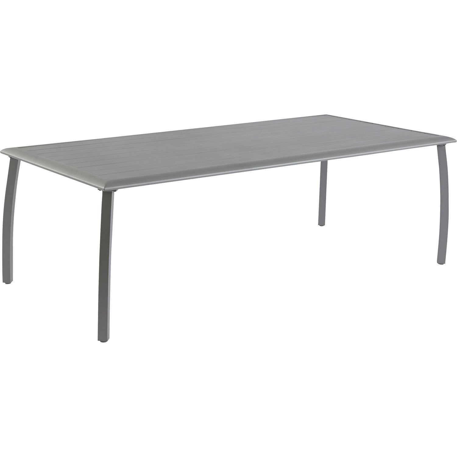 Table de jardin en aluminium azuro royal grey proloisirs for Table de nuit leroy merlin