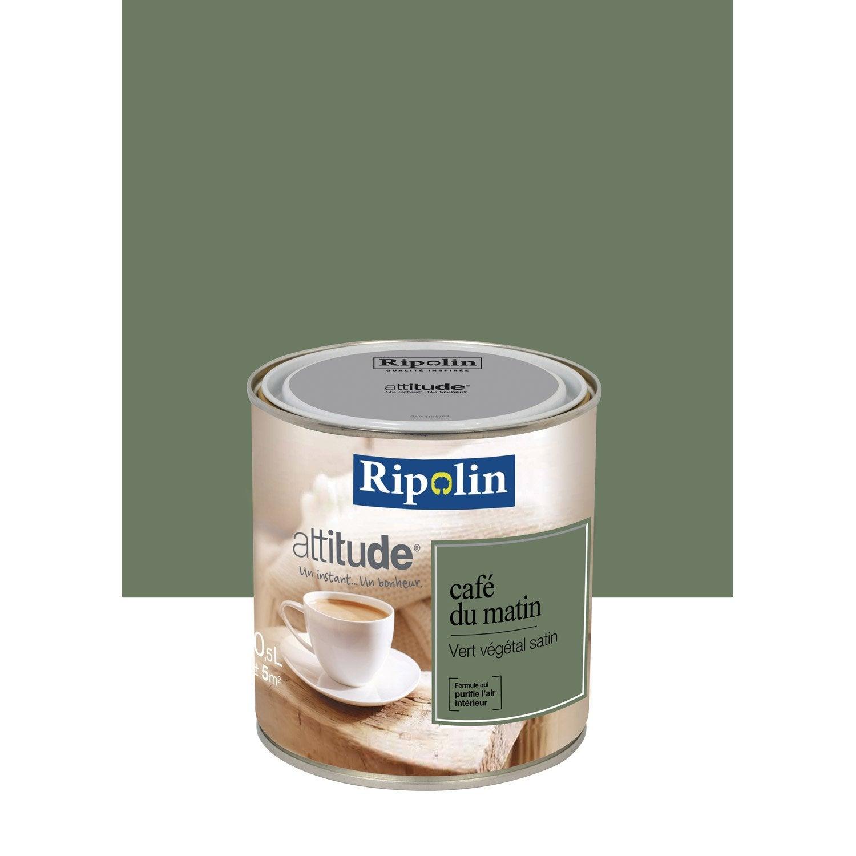 Peinture vert v g tal ripolin attitude caf du matin 0 5 l for Peintures ripolin