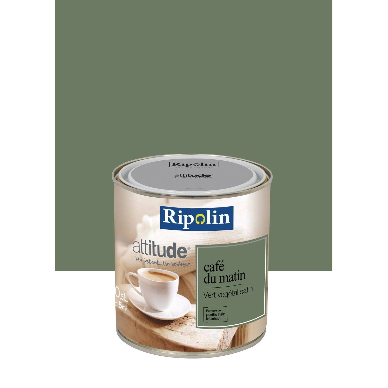 Peinture vert v g tal ripolin attitude caf du matin 0 5 l - Peinture faire du marron ...