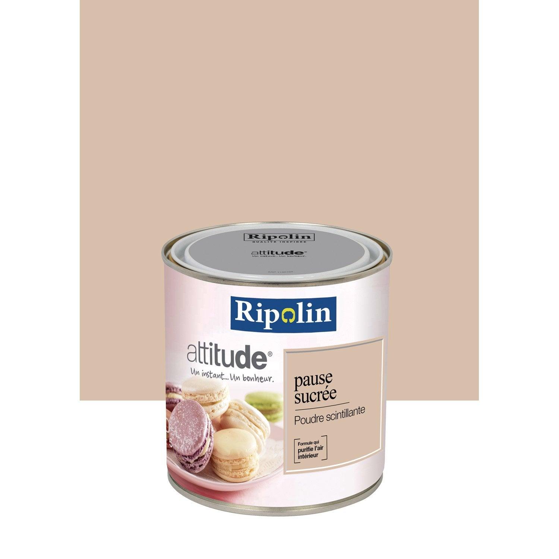 Peinture m tallis poudre scintillant ripolin attitude for Couleur de peinture beige
