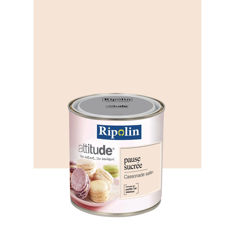 Peinture cassonade ripolin attitude pause sucr e 0 5 l leroy merlin for Peinture ripolin