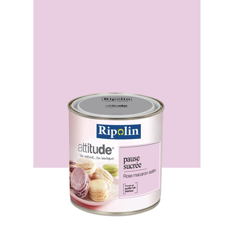 Peinture rose macaron ripolin attitude pause sucr e 0 5 l leroy merlin - Leroy merlin peinture fer ...