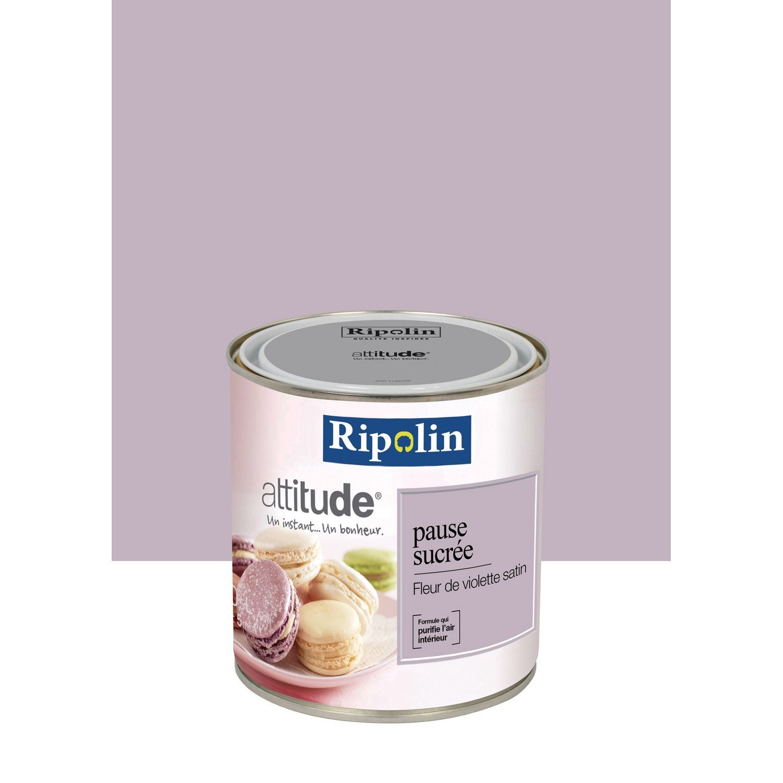 Peinture fleur de violette ripolin attitude pause sucr e 0 for Peinture violette