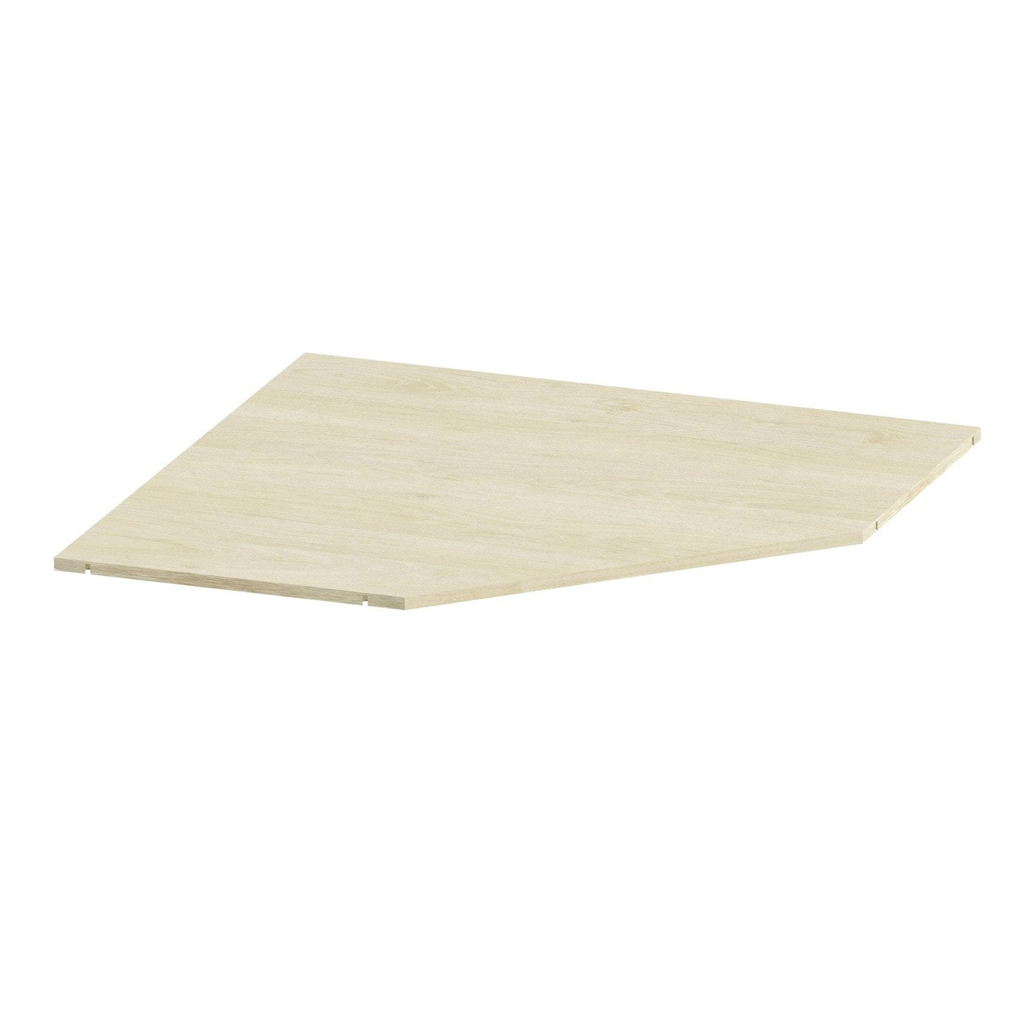 Tablette d 39 angle spaceo home 1 6 x 85 7 x 85 7 cm effet - Tablette chene leroy merlin ...
