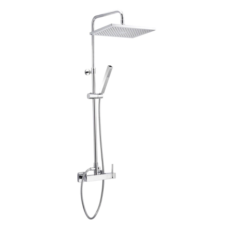 Colonne de douche avec robinetterie huber quadro galaxy - Installation colonne de douche hauteur ...