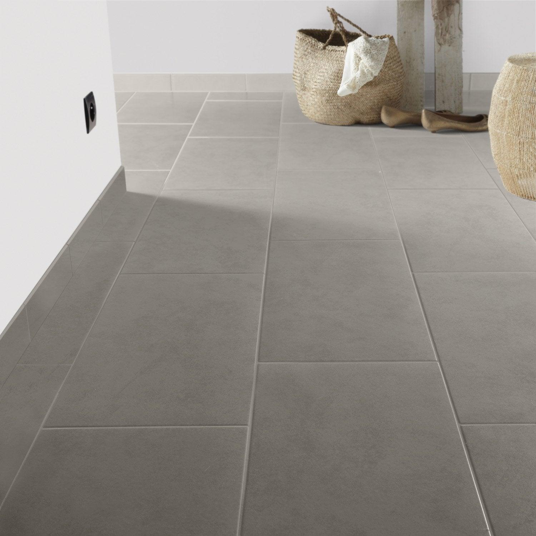 Carrelage sol et mur gris souris effet b ton leeds x cm leroy merlin - Carrelage gris couleur mur ...