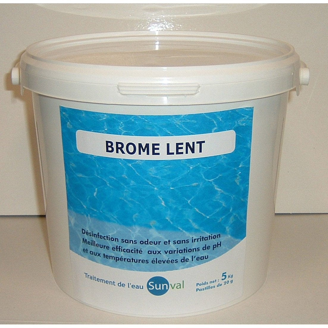 Brome lent piscine pastille 5 kg leroy merlin for Piscine brome