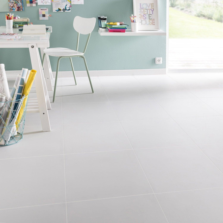 carrelage sol et mur blanc effet uni siberie x cm leroy merlin. Black Bedroom Furniture Sets. Home Design Ideas
