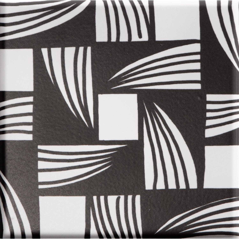 fa ence mur noir et blanc d cor marker x cm leroy merlin. Black Bedroom Furniture Sets. Home Design Ideas