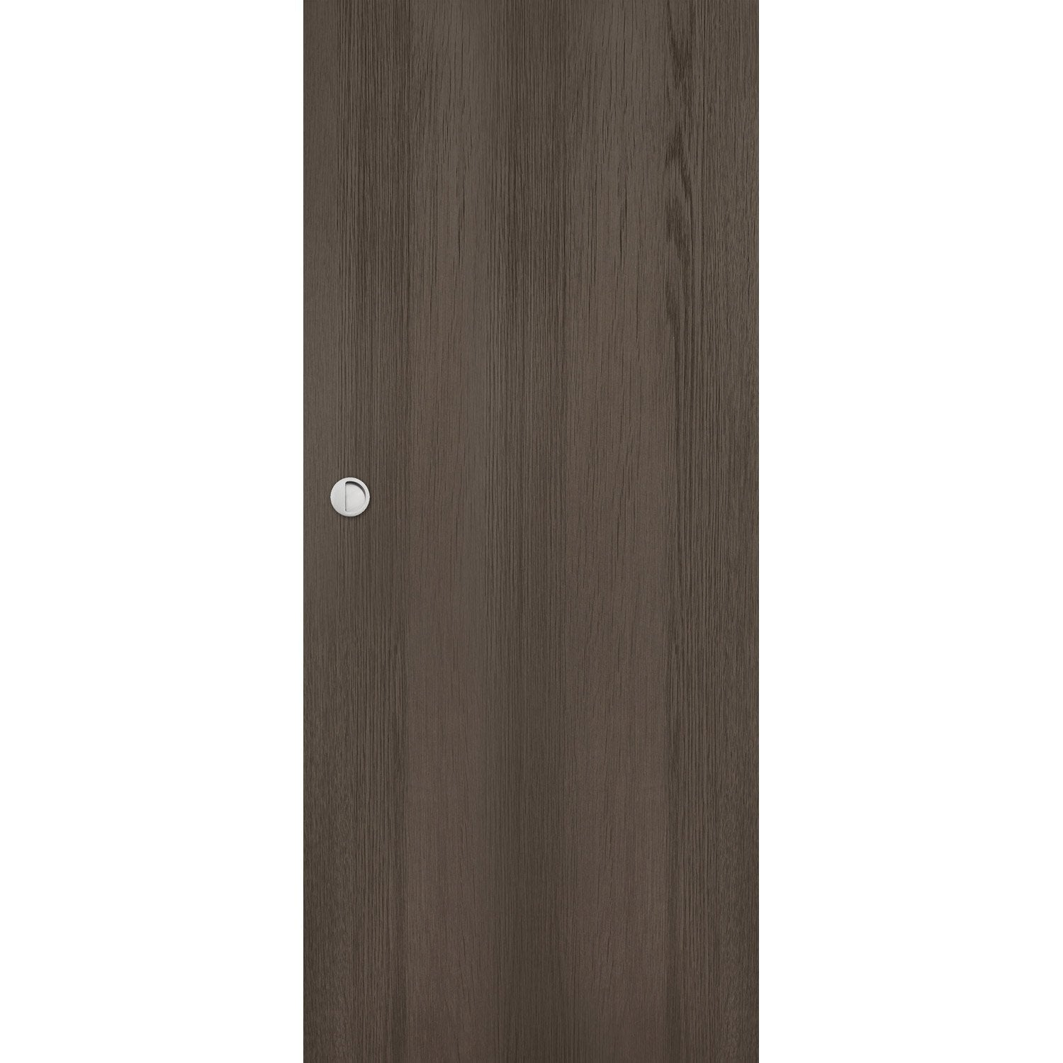 Porte coulissante m dium mdf rev tue gris loulou artens for Porte 3 points leroy merlin