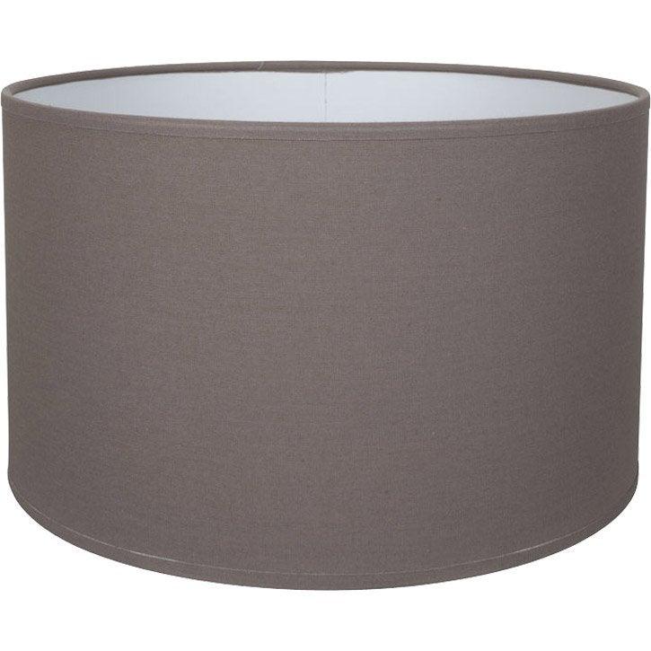 abat jour tube 40 cm toiline brun taupe n 3 inspire leroy merlin. Black Bedroom Furniture Sets. Home Design Ideas