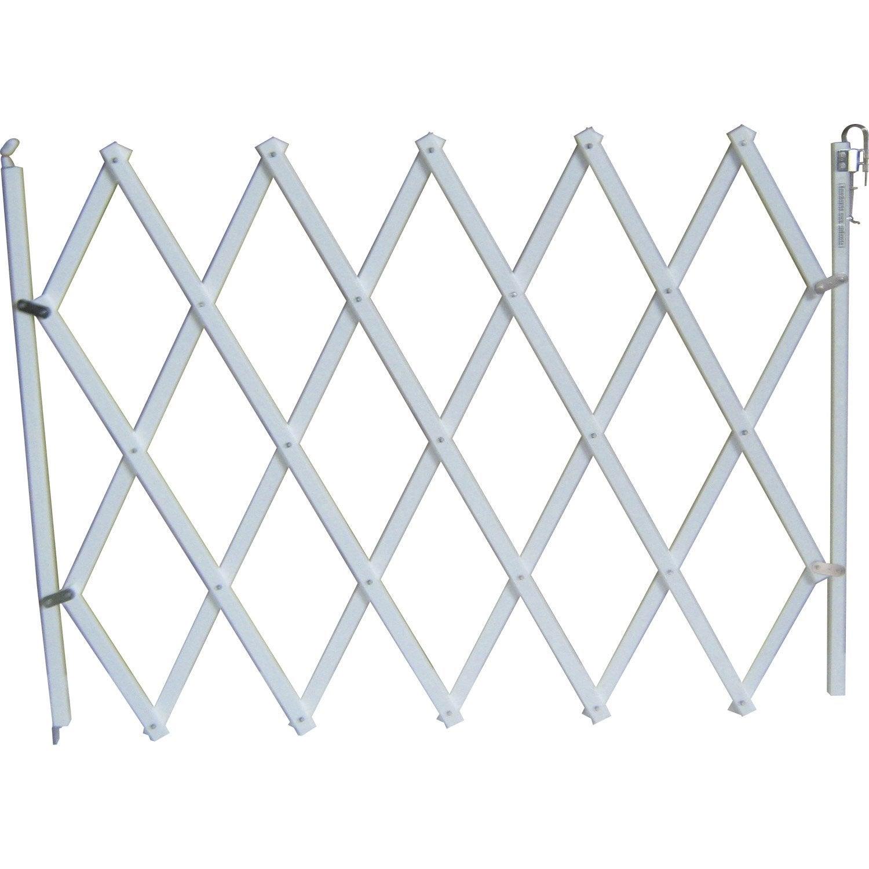 barri re extensible animaux en bois blanc long min max 18 104 cm h76 cm leroy merlin. Black Bedroom Furniture Sets. Home Design Ideas