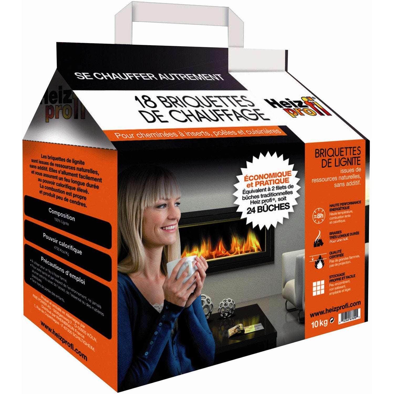 briquettes de lignite heiz profi en sac de 18 10 kg leroy merlin. Black Bedroom Furniture Sets. Home Design Ideas
