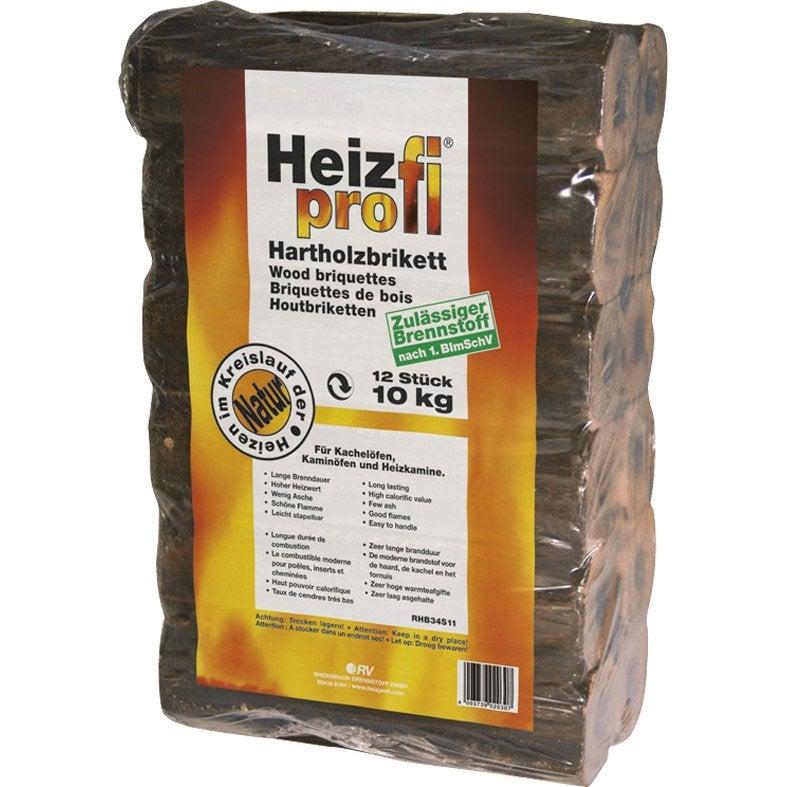bûches calorifiques equation en sac, 9.65 kg | leroy merlin
