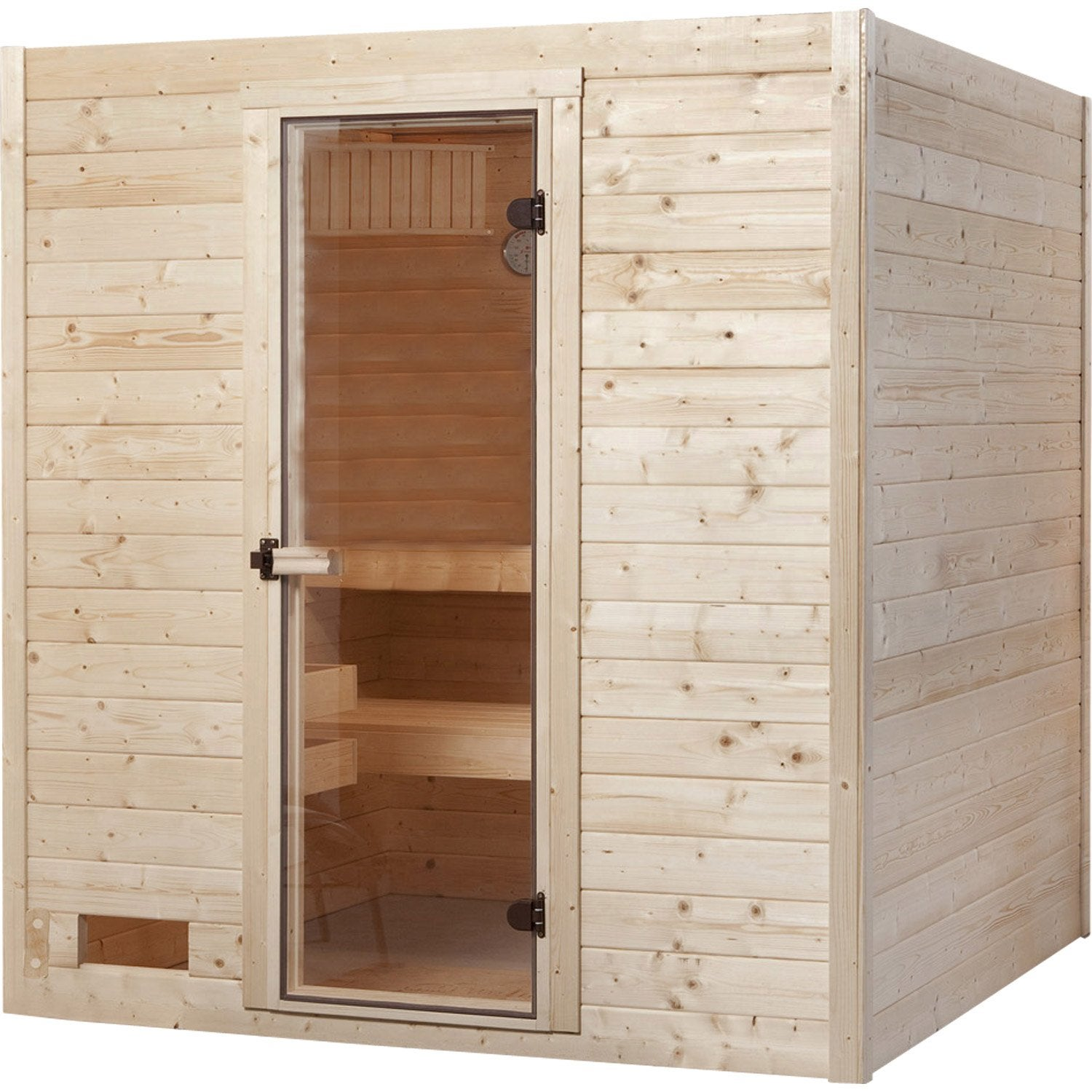 sauna traditionnel 2 places mod le sauna set complet weka livraison incluse leroy merlin. Black Bedroom Furniture Sets. Home Design Ideas