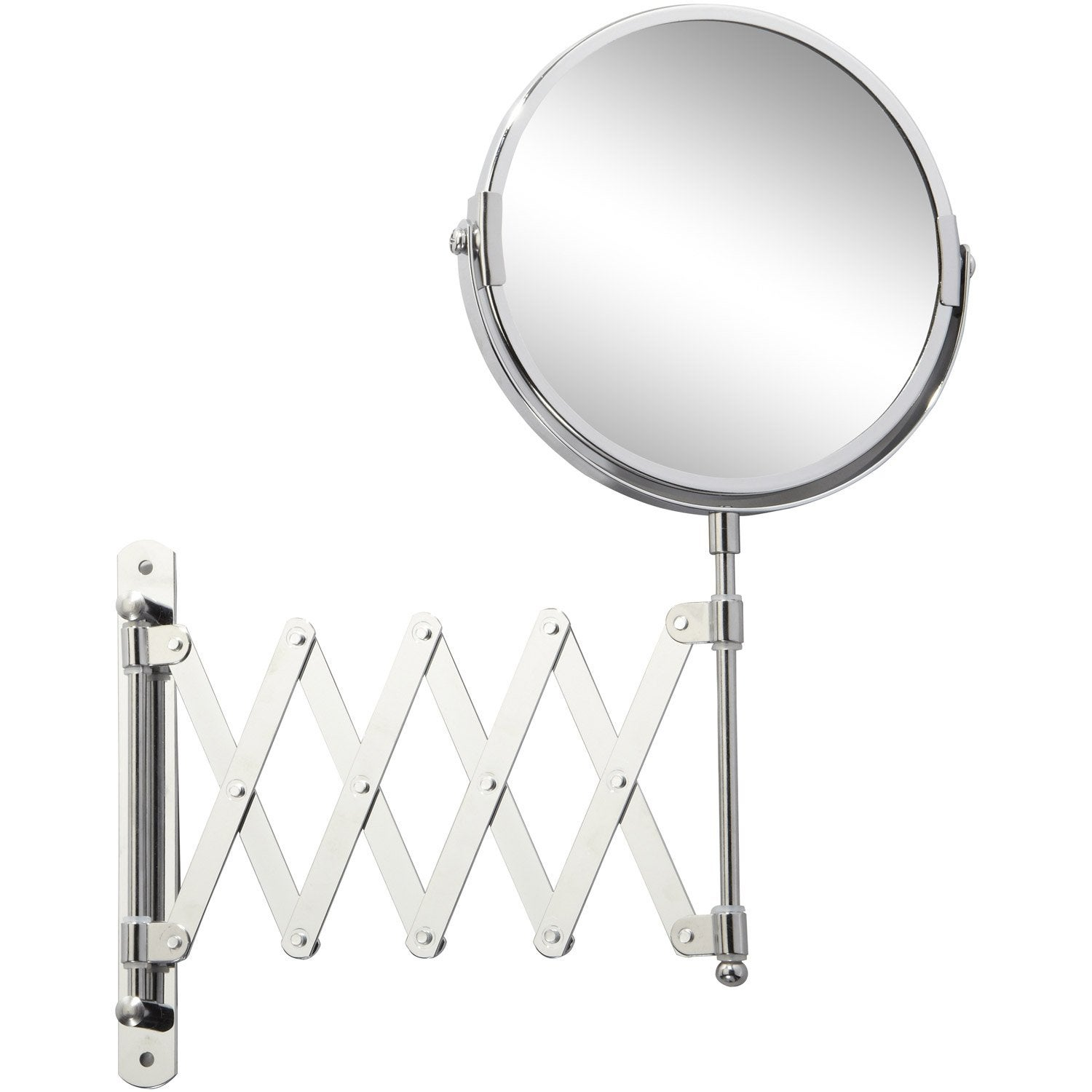 Miroir Grossissant X 2 Rond Fixer X X P 1 8 Cm Beauty Extensible Leroy Merlin