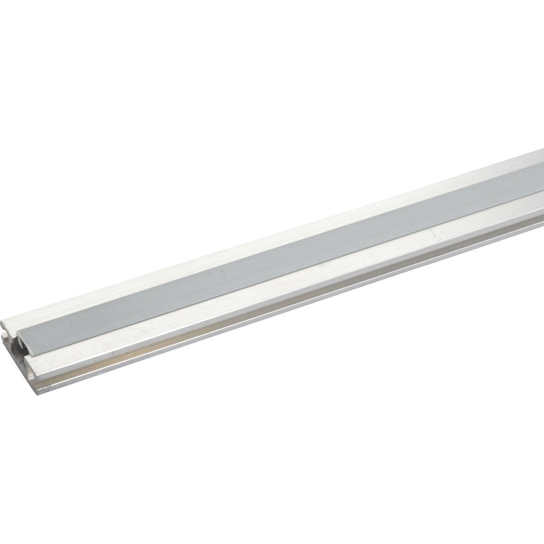 Rail aluminium pour portes coulissantes hettich leroy merlin for Rail et roulette pour porte coulissante