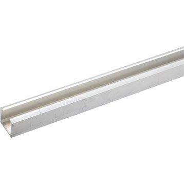 Profil en aluminium pour portes coulissantes hettich larg for Rail pour porte coulissante leroy merlin