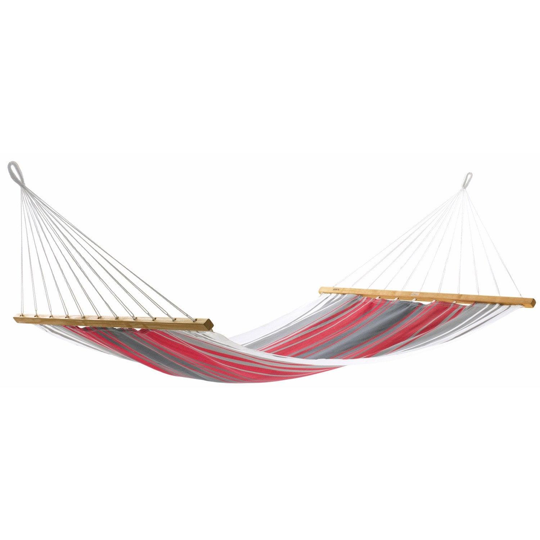 toile de hamac aruba jobek rouge gris cru leroy merlin. Black Bedroom Furniture Sets. Home Design Ideas