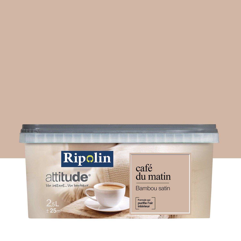 Peinture café au lait RIPOLIN Attitude café du matin 2 5 l