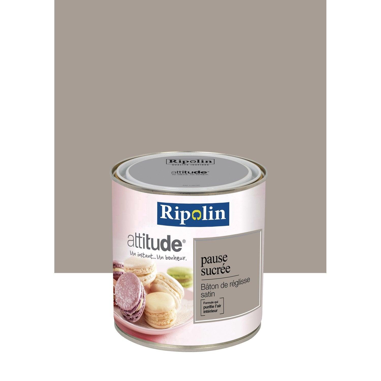 Peinture brun baton de r glisse ripolin attitude pause sucr e 0 5 l leroy merlin for Peinture cuisine tollens