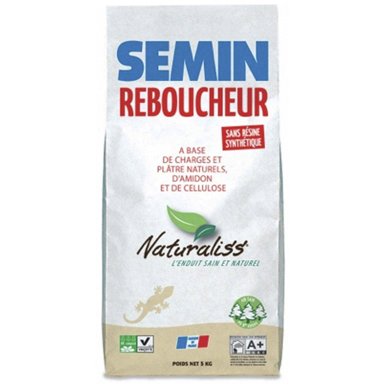 enduit de rebouchage poudre naturaliss semin 5 kg leroy merlin