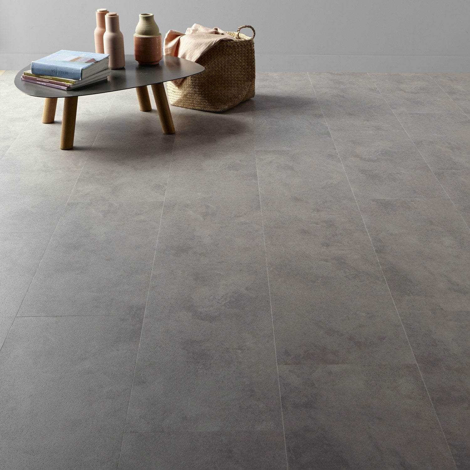 dalle pvc clipsable taupe flagstone senso lock gerflor