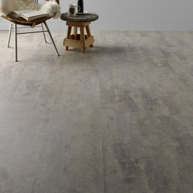 Dalle pvc clipsable gris soft grey clic gerflor leroy merlin - Dalles pvc leroy merlin ...