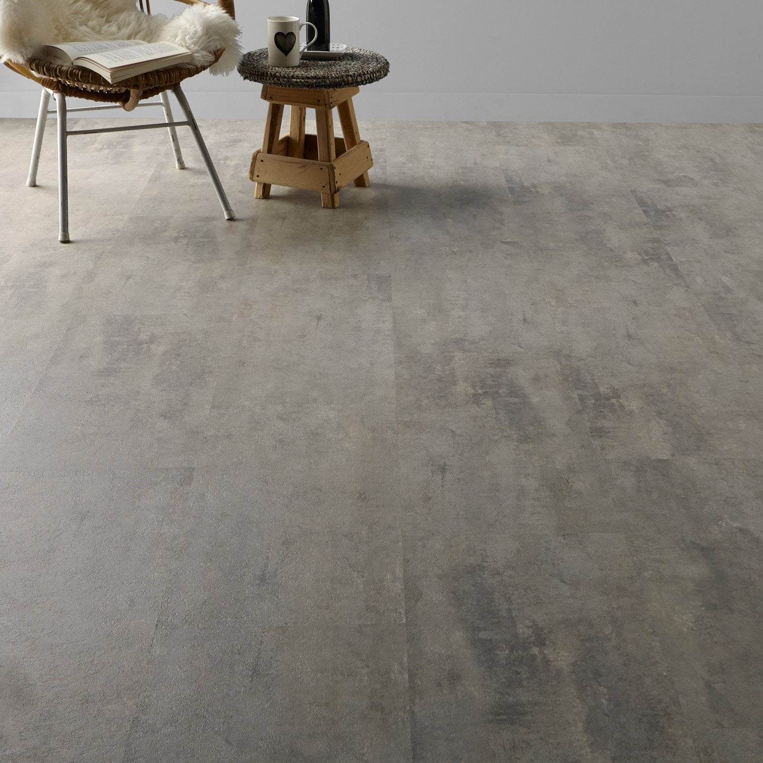 Dalle pvc clipsable gris soft grey clic gerflor leroy merlin - Dalle pvc leroy merlin ...