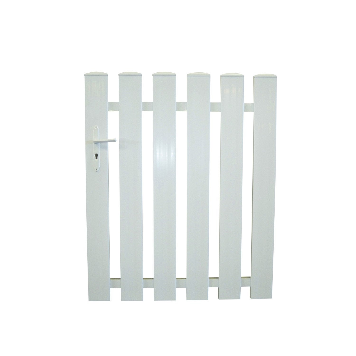 Portillon battant auray x cm blanc leroy for Portillon en bois de jardin