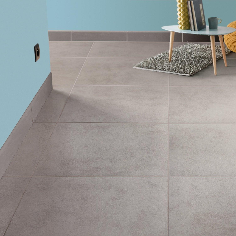 Carrelage sol et mur gris souris effet b ton leeds x for Carrelage sol gris clair