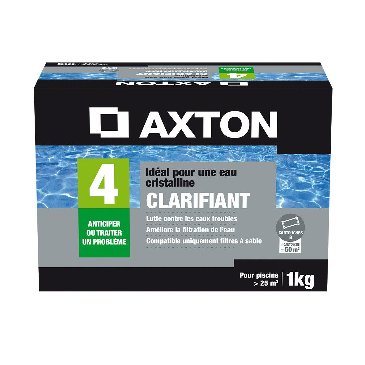clarifiant piscine axton 1 kg leroy merlin. Black Bedroom Furniture Sets. Home Design Ideas